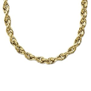 Yellow-Gold-Rope-Mens-Gold -Necklaces