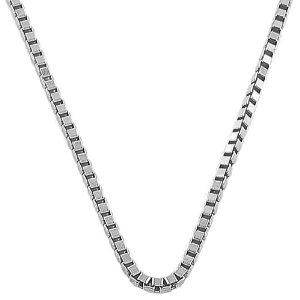 14k-White-Gold-Mens-Venetian-Box-Chain-Necklace