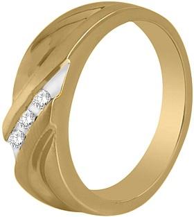 Men's 0.15 carat total weight Diamond Wedding Ring in 14k Yellow Gold