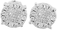 14K White Gold White 0.5cttw Diamond Stud Earrings Mens or Womens 8MM