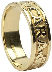 Mens Mo Anam Cara Irish Wedding Band 10k Gold Irish Made