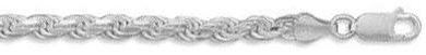 5mm Diamond Cut Rope Chain Bracelet Figaro chain: Incredibly Elegant & Fashionable