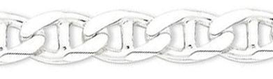 8-Inch-Sterling-Silver-7.75mm-Figaro-Anchor-Chain-Bracelet