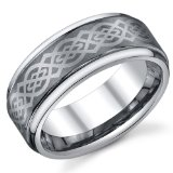 8mm mens tungsten carbide ring with celtic design Mens Tungsten Carbide Wedding Bands