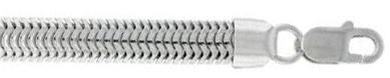 Sterling-Silver-Italian-Oval-Snake-Chain-Bracelet-8mm