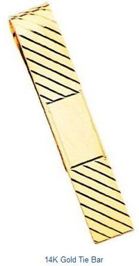 14K Gold Tie Bar Mens Jewlery