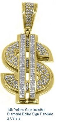 14k-Yellow-Gold-Invisible-Diamond-Dollar-Sign-Pendant