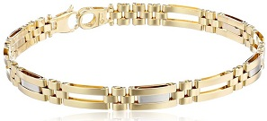 Men's 14k Gold Two-Tone Fancy Bracelet