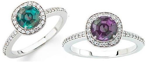 Tiffany Style Custom Made Ring Featuring a Genuine GEM 1 carat Alexandrite Gemstone