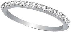 Hidalgo Micro Pave Diamond Eternity Ring Band 18k White Gold (0.26ct)