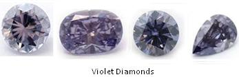 Violet Diamonds Colored Diamonds