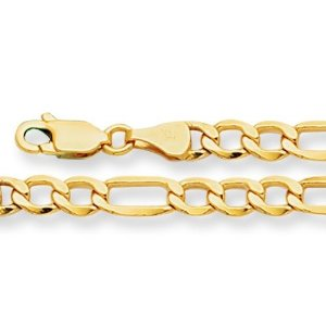 10K-gold-figaro-chain-for-men-yellow-gold-4.6mm-20-inch