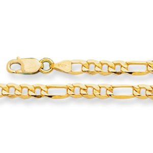 14-Karat-Yellow-Gold-Figaro-Necklace-Width-3.5-mm-length-24-Inch