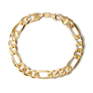 14 karat 8 inches figaro bracelet Figaro Bracelet: An Unbeatable Fashion Accessory.