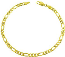 14 karat yellow gold figaro bracelet 8.25 inch Figaro Bracelet: An Unbeatable Fashion Accessory.