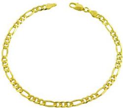 14-karat-yellow-gold-figaro-bracelet-8.25-inch