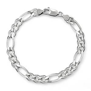 14k white gold mens figaro bracelet 8 inches Figaro Bracelet: An Unbeatable Fashion Accessory.