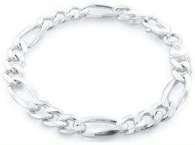 mens-sterling-silver-figaro-bracelet-250-gauge-8-inches