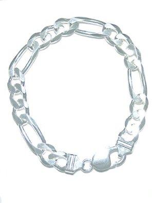 mens-sterling-silver-italian-figaro-bracelet-nickel-free-9mm-wide-8-inch