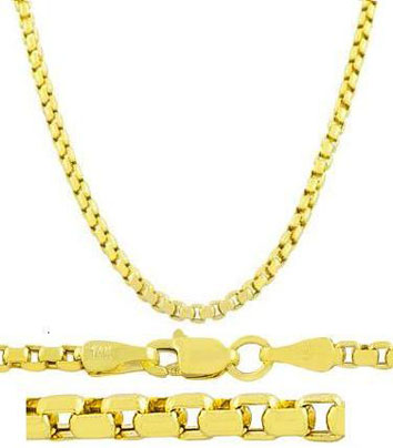 14-Karat-Yellow-Gold-3.4-mm-Round-Box-Chain-24-Inch