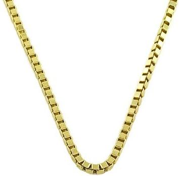 14 Karat Yellow Gold Venetian Box Chain