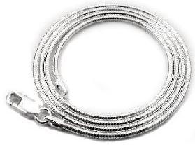 Italian-2mm-20-inch-Sterling-Silver-Snake-Chain-Necklace