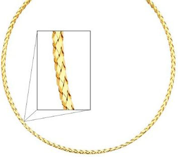 14K Yellow Gold 2.5mm Sparkle Omega Chain Necklace With Lobster Claw Clasp 17 Inches