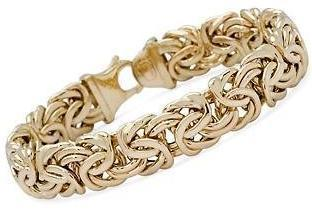 14kt Yellow Gold 12mm Byzantine Bracelet Byzantine Chain