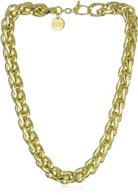 18k-Gold-Plated-Herringbone-Chain-Link-Necklace
