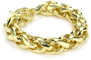 18k-Gold-Plated-Herringbone-Link-Bracelet