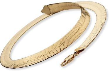 18k-Sterling-Silver-Herringbone-Chain-Necklace-18-Inches