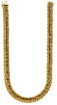 18k-Yellow-Gold-11.5mm-Byzantine-chain-Necklace