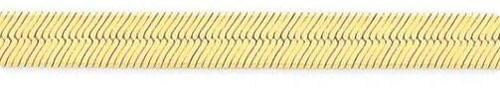 6.5mm-14-Karat-Yellow-Gold-Silky-Herringbone-Chain-24-inch