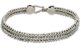 Sterling-Silver-Braided-Herringbone-Chain-Bracelet