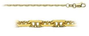 1.95mm-22-Inches-14k-Yellow-Gold-Anchor-Chain-Necklace