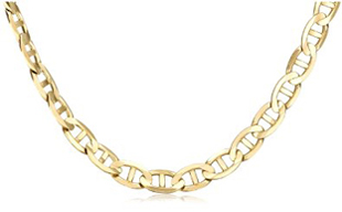 Mens-14k-Yellow-Gold-7.5mm-Mariner-Chain-Necklace-24-Inches