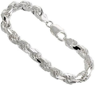 7mm-RARE-Mens-Real-Solid-925-Sterling-Silver-Diamond-Cut-Rope-Link-Chain-Necklace