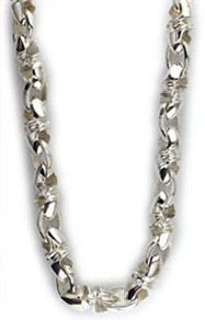 Mens-large-twisted-bullet-link-chain-in-sterling-silver