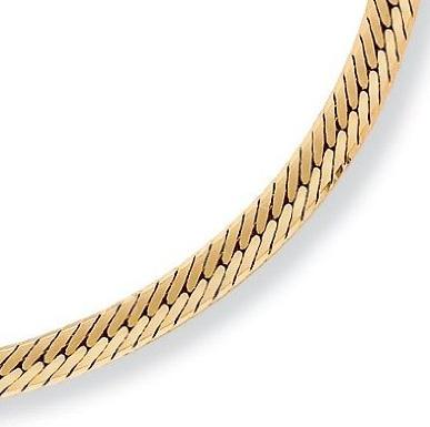PalmBeach Jewelry Herringbone Chain Necklace 20 Inches Men Chain Necklace