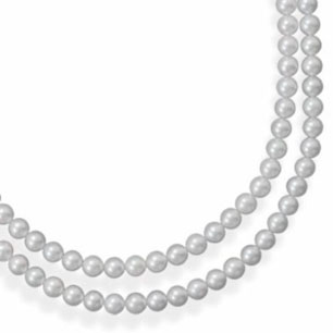 Sterling-Silver-Double-Strand-A-Inch-Grade-Akoya-Pearl-Necklace