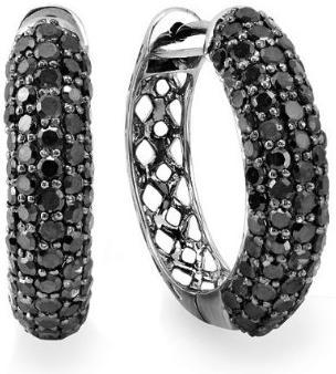 3.50-Carat-ctw-10k-White-Gold-Black-Round-Diamond-Mens-Hip-Hop-Iced-Out-Black-Plating-Huggie-Hoop-Earrings