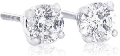 IGI-Certified-1-Carat-TW-Round-Diamond-Stud-Earrings-14Kt-White-Or-Yellow-Gold