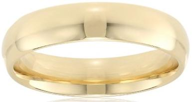 Mens 14k Yellow Gold 5mm Comfort Fit Plain Wedding Band Mens Jewlery