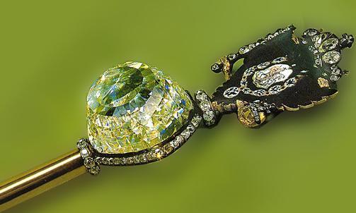 Orloff Diamond mounted in the royal scepter