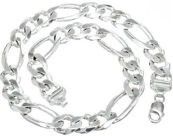 Sterling-Silver-Figaro-Chain-Necklace-For-Men-Italian-Make-15mm