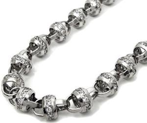Solid 10k White Gold Mens Curb Fancy Link Cubic Zirconia Bracelet 9.5 Inch