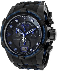 Mens Bolt Reserve Chrono Black Silicone and Dial Invicta Watches