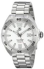 TAG Heuer Men's WAZ2114.BA0875 Analog Display Automatic Self Wind Silver Watch