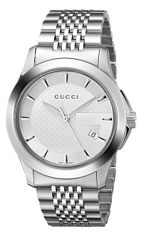 Gucci Men's YA126401 G-Timeless Stainless Steel Bracelet Watch