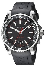 Gucci Men's YA136303 Gucci Dive Analog Display Swiss Quartz Black Watch